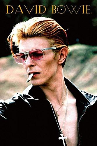 Buyartforless David Bowie Rebel 1974 Diamond Dogs Album 36x24 Music Poster, Print, Decorative Accent, Wall Art Multi-Color