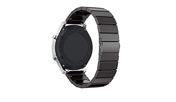 Amazon.com: Jewh Stainless Steel Wrist Strap - Watch Band for Samsung Gear S3 - Metal Clasp Link Bracelet - Samsung Wristband - Watchband for Gear S3 ...
