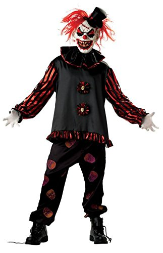 Mario Chiodo Mens Horror Carver The Killer Clown Party Fancy Costume, Large -