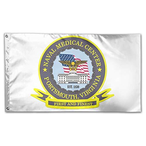 CBMVNC ERUTIHGF Naval Medical Center Portsmouth Vinyl Transfer 150cm*90cm Perfect Outdoor Flag 3 * 5