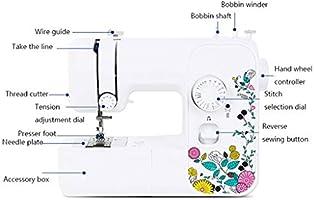 Máquinas de Coser Máquinas de coser Escritorio eléctrico Multifunción con cosido Cosido pequeño de comer 17 Tipos de puntadas de coser Ropa, manualidades y máquinas de coser for el hogar Máquinas de