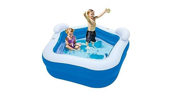 LINGGE Piscina Hinchable Banera Piscinas Family Fun Lounge Pool ...