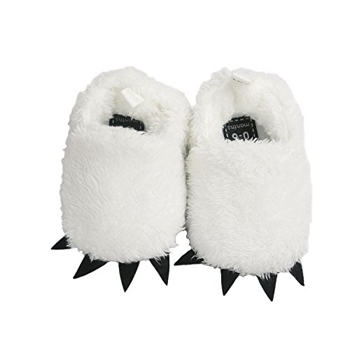 Vanbuy Baby Boys Girls Shoes Bear Paw Animal Slippers Boots Newborn Infant Crib Shoes WB28-White-L