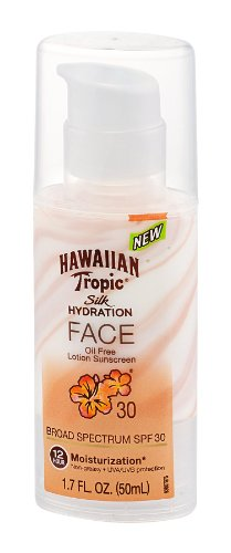 - Hawaiian Tropic Silk Hydration Faces Lotion, SPF 30, 1.7 oz