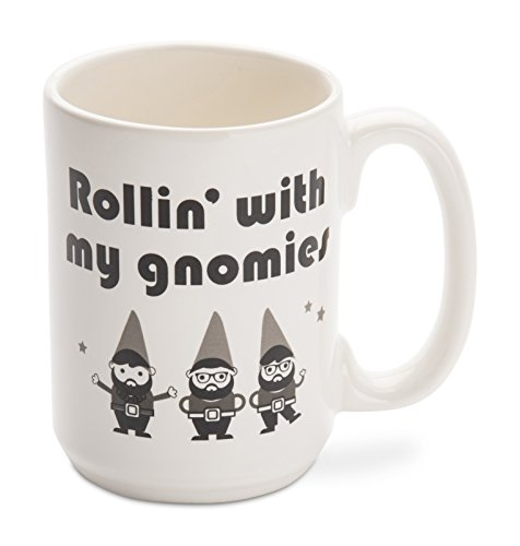 Funny Mug - Made in USA - Rollin' with my gnomies - 14 oz. Ceramic coffee Mug - Funny gifts and sarcasm