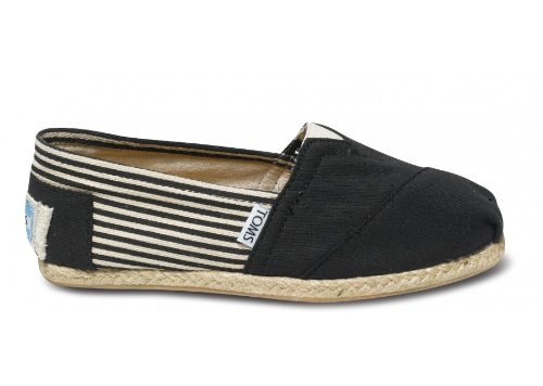 - TOMS Women's Classic Rope Slip-On, University Black, 6 M US/4 UK