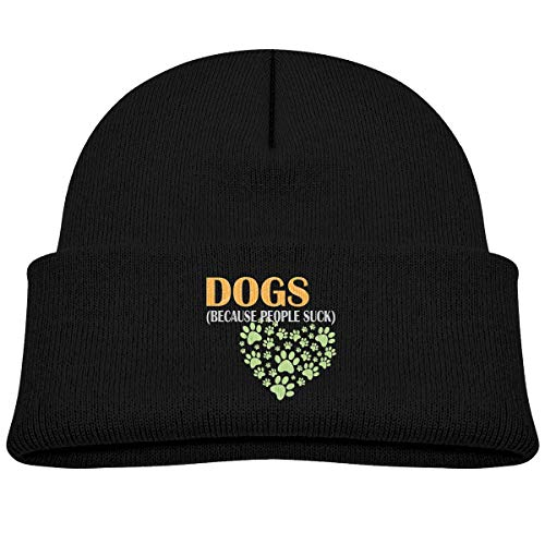 (Qiop Nee Dogs Because People Suck Beanie Caps Knit Hats Baby Boy)