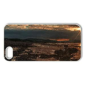 magnificent sunset on a rocky beach hdr - Case Cover for iPhone 5 and 5S (Beaches Series, Watercolor style, White)