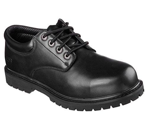 Skechers Cottonwood Capron Zapatos De Trabajo Con Punta De Acero Para Hombre Cuero Negro
