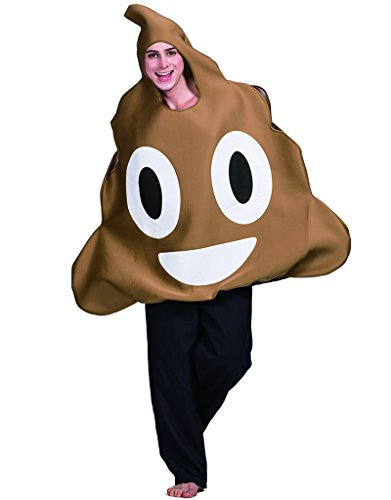 EraSpooky Halloween Unisex Poop Emoticon Costume(Brown, OneSize) -