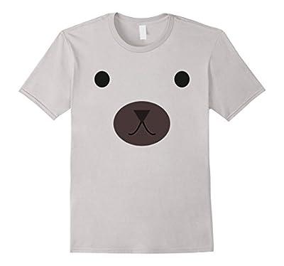 Bear Face Shirt, Funny Cute Bear Halloween Costume Gift Tee