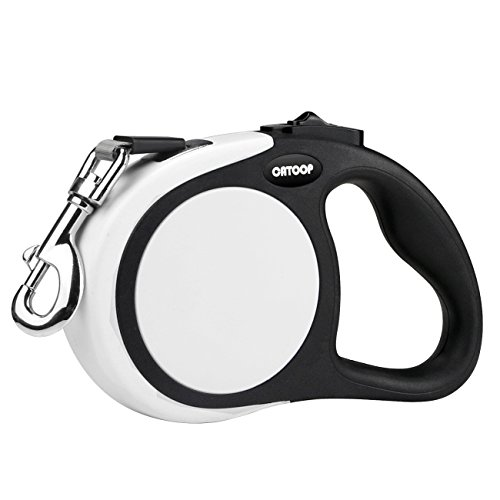 CATOOP Retractable Dog Leash, 360° Tangle-Free, Heavy Duty Pet Dog Leash Anti-Slip Handle, 16 ft Strong Nylon Tape/Ribbon, One-Handed Brake, Pause, Lock by CATOOP