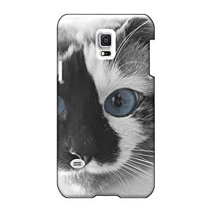Durable Cell-phone Hard Covers For Samsung Galaxy S5 Mini With Provide Private Custom Nice Cats Blue Eyes Animals Series AshtonWells