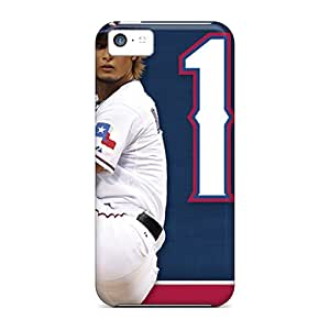 Protector Cell-phone Hard Covers For Iphone 5c With Customized Colorful Texas Rangers Skin SherriFakhry