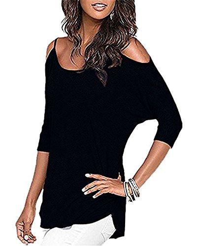 Styleword Womens Three quarter Sleeves Shoulder