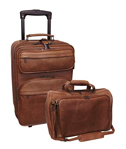 Amerileather Leather 2-piece Luggage Set (#8002-2)