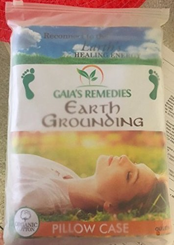 Earthing Grounding Pillow Case (2 Sets) Improves Sleep, Natural EMF Detox, 95% Cotton, 5% Silver, Reduces Inflammation and Pain Through ion Exchange.