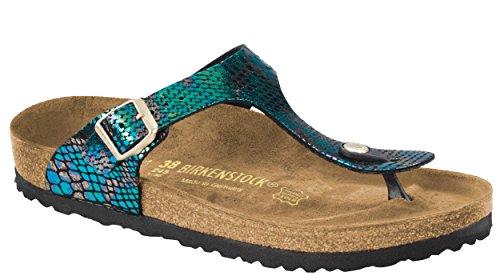 Shiny Birkenstock Niños Black Zapatillas de Multicolor Unisex Gizeh Gimnasia Snake w7qF7xYr