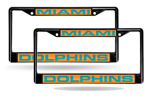 Miami Dolphins Black Metal License product image
