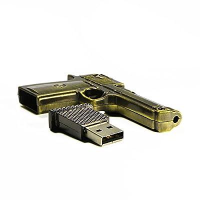 WooTeck 8/16/32/64GB USB Flash Drive Metal Revolver Gun from WooTeck