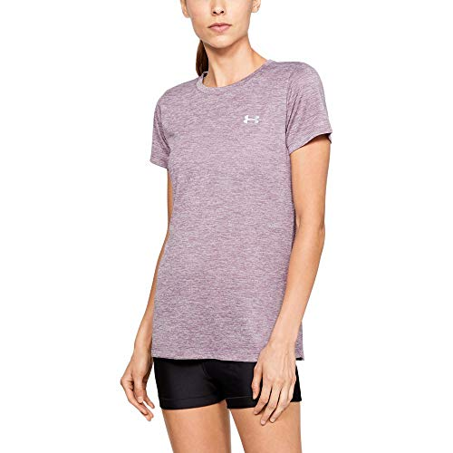 Under Armour Women's Tech Twist T-Shirt, Purple (521)/Metallic Silver, X-Small