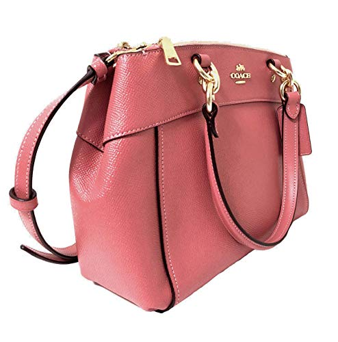 Detachable Mini Strap Peony Crossgrain Womens Crossbody Im Coach Signature Brooke Carryall Handbag Leather qHZ856