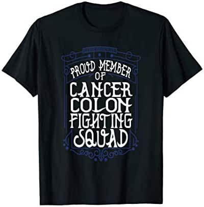 fighting squad cancer colon awareness T-Shirt