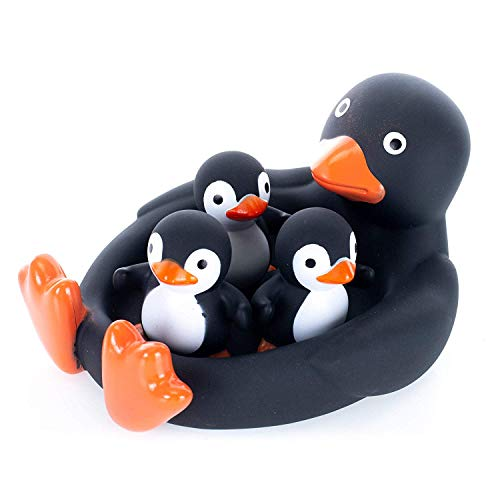Rubber Animal Family Bath/Pool Toy (Penguin)