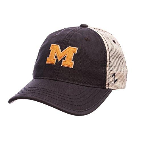 NCAA Michigan Wolverines Men's Summertime Hat, Stone/Navy, (Ncaa Hat Michigan Wolverines Cap)