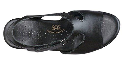 Sas Vrouwen Suntimer Open Teen Ongedwongen Ankle Strap Sandalen Zwart