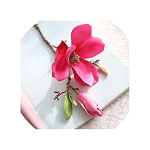 Magnolia Flower Artificial Flower Fake Flower Artificial Fake Flower Wedding Bouquet Party Home Decoration,C 3