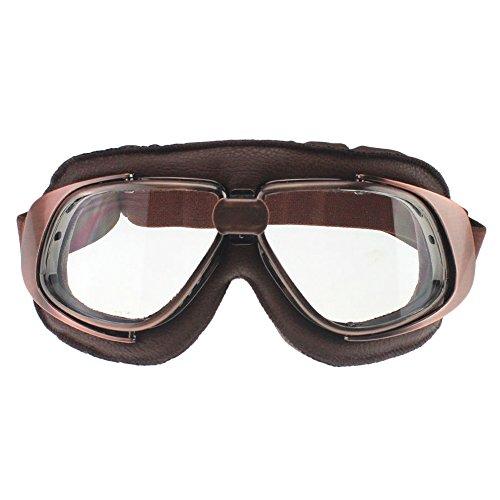 MotorFansClub Retro Goggles Aviator Pilot Motorcycle Half helmet Goggle Sun UV Wind Eye Protect Glasses(T10,Clear) -  MFC-14423_3