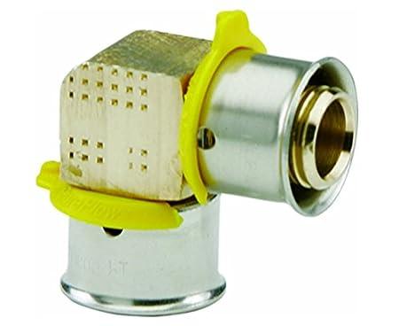Viega 84085 PureFlow Bronze PEX Press Tee with 1-1//2-Inch by 1-1//2-Inch by 1-1//4-Inch Press x Press x Press