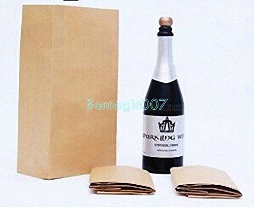 New Vanishing Champagne Bottle - LATEX Black - Stage Magic Tricks -