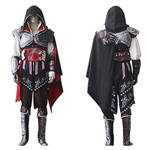 Assassin's Creed II Ezio Auditore da Firenze Black Cosplay Costume (M) -