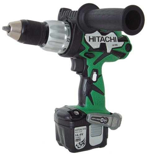 14.4V 1/2 inch Hammer Drill, 3.0 Ah Li-Ion, 460 in/lbs torque 2 Batteries