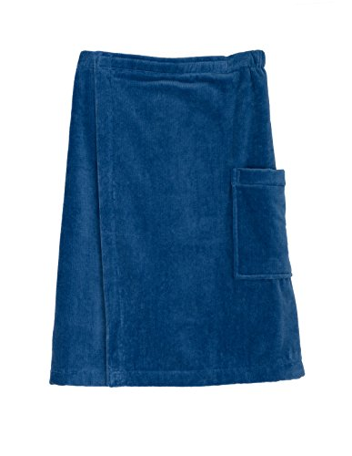 Velour Bath Wrap (TowelSelections Cotton Terry Velour Bath Towel Shower Wrap for Men Small/Medium Dutch)