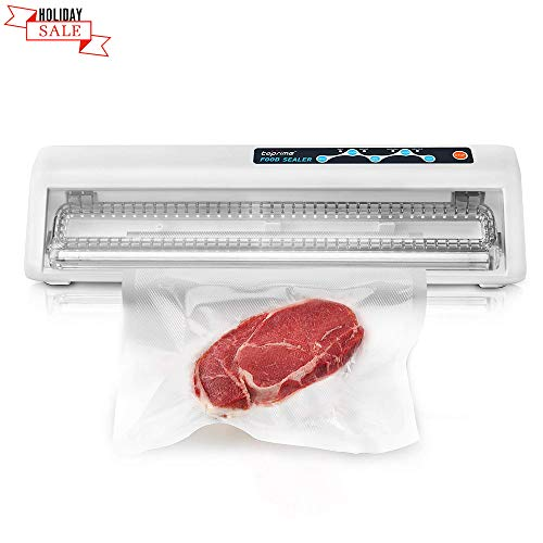 Toprime Food Vacuum Sealer, Automatic Vacuum Sealing System for Keeping Dry & Moist Food Fresh, Suitable for Sous Vide, Touch Keys and Compact Design with Air Suction Hose, Bags and ()