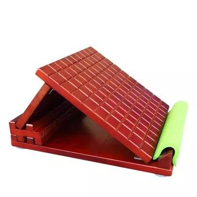 YNXing 6 Stalls Kiefernholz Slant Board neigungsverstellbar Board für Home Fitness ROTuzieren kann Müdigkeit/dünn waist-legs/DELAY biogerontologie/Schleppnetz die Meridian (rot Wein)
