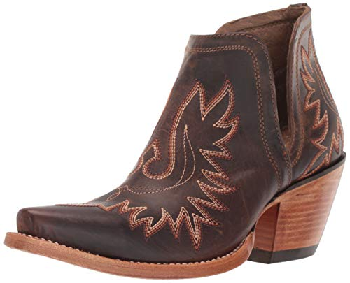 Boot Women Brown Ankle - Ariat Women's Women's Dixon Western Boot, Weathered Brown, 11 B US