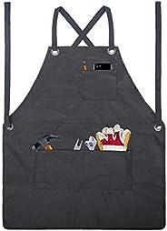 Avental de ferramentas de jardinagem Blusea com bolsos, kit de ferramentas de cintura ajustável, avental de ja