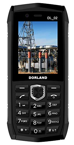 DORLAND DL_02 Explosion-Proof Mobile Phone,IP68 Rugged Smartphone, Intrinsically Safe for Oil & Gas Industry and Hazardous Areas, Waterproof Dustproof Shockproof, Dual SIM (Intrinsically Safe Explosion Proof)