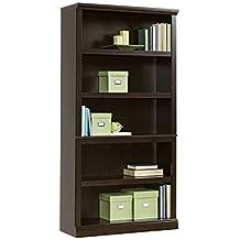 Sauder 5-Shelf Bookcase, Jamocha Wood Finish