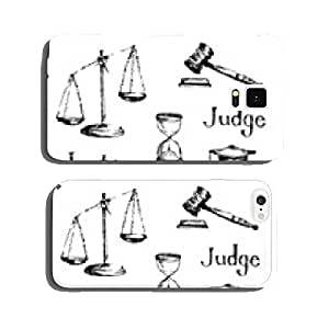 Set of justice or law symbols. Vector illustration. cell phone cover case Samsung S6