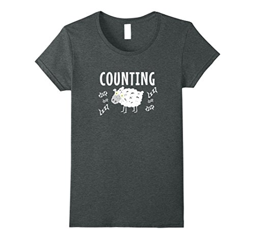Womens Counting Sheep Funny Top for Pajamas T-Shirt Fun Sleepwear XL Dark (Funny Womens Pajamas)