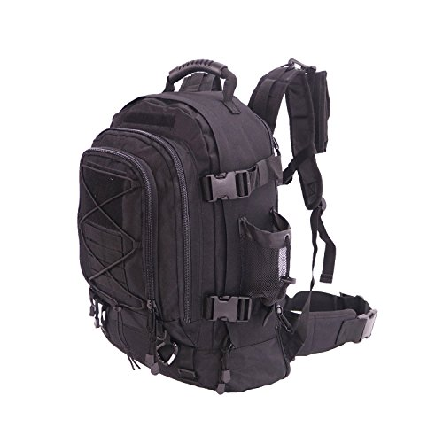 40L Outdoor Expandable Tactical Backpack Military Sport Camping Hiking Trekking Bag (Black...