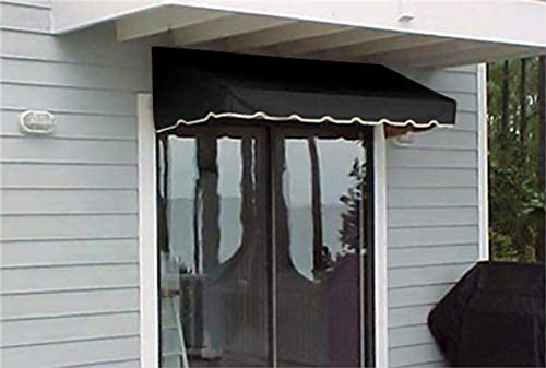 Window Awning or Door Canopy 4 Wide in Sunbrella Awning Canvas – Black