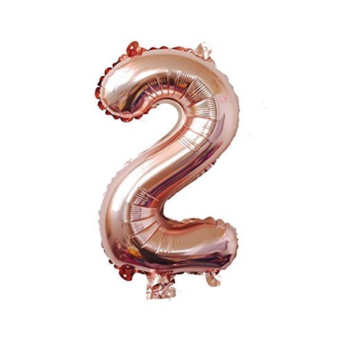 Birthday Balloon Children Ballon Number 0-9 in Rose, used for sale  Delivered anywhere in USA
