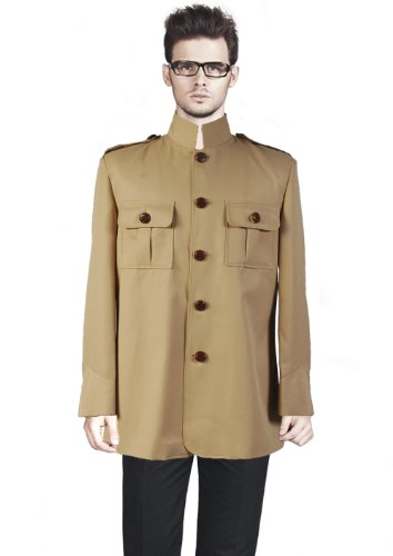 CosDaddy® Cosplay Costume Tan Shea Stadium Replica Jacket,Men-Small