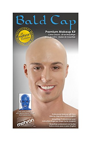 Bald Makeup (Mehron Bald Cap - Premium Character Makeup Kit)